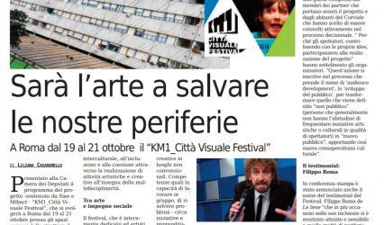 Un articolo dedicato al Festival sul Nuovo Corriere Nazionale